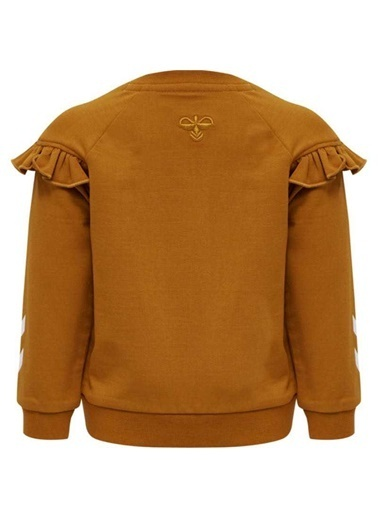 Hummel Hummel 2081335277 Buena Bisiklet Yaka Fırfır Detaylı Hardal Kız Çocuk Sweatshirt Renkli